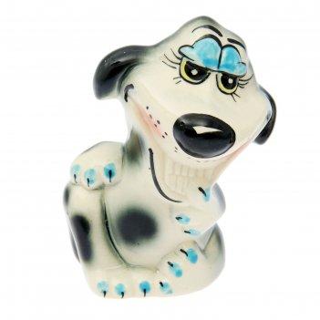 Статуэтка собака романтик, глазурь, 11 x 8 x 14 см, микс