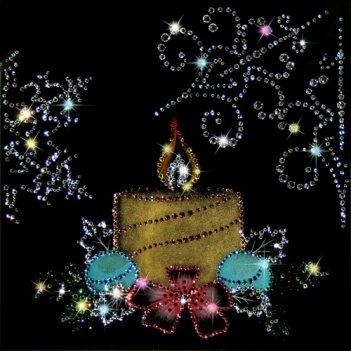 Картина сваровски - новогодняя свеча