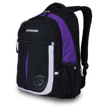 13852915 рюкзак wenger « montreux» цв  чёрный пурпур  серебр