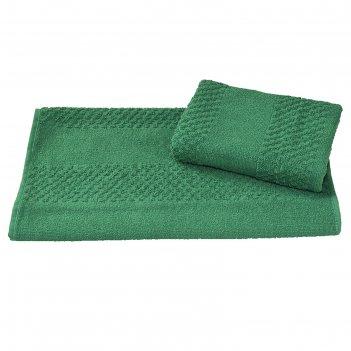 Полотенце махровое гладкокрашеное 40x70 см 360 г/м2, зеленый, 100% хлопок