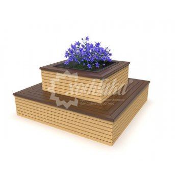 Клумба цветочница со скамьёй