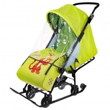 Санки коляска «disney-baby 1. тигруля», цвет лимонный