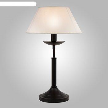Настольная лампа hotel 1x40вт е14 чёрный 28x28x45см