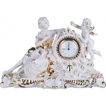 Часы настольные ангел длина=48 см. высота=31 см. циферблат диаметр=8 см.