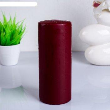 Свеча классическая 8х20 см, бордовая