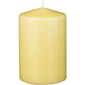 Свеча высота=15 см.диаметр=10 см.фисташковая