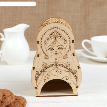 Чайный домик матрёшка 10х10,5х16см
