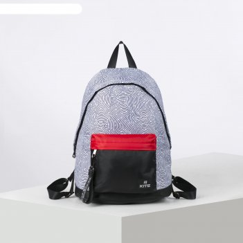 Рюкзак школьный kite 910 40*29.5*15 сity, чёрный/белый k20-910m-1