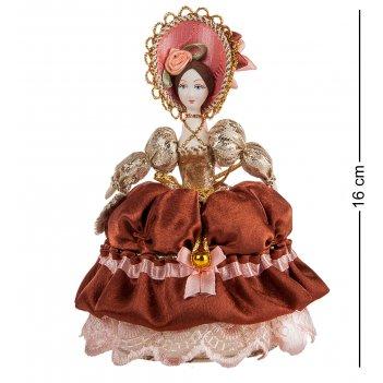 Rk-733/ 6 кукла-шкатулка дама с веером