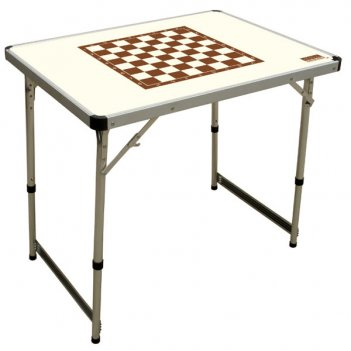Tc-018 складной стол шахматный  camping world chess table ivory