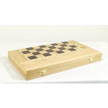 Шахматы, нарды, шашки 3в1, 45мм с фигурами