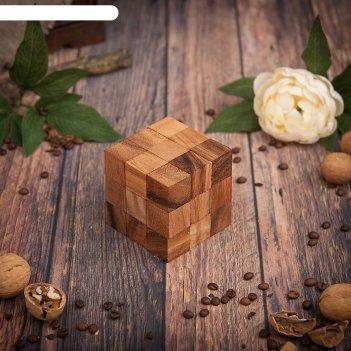 Головоломка дерево кубик стандарт 8х8х8 см