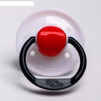 Соска-пустышка силиконовая, от 0 мес., баллон круглой формы