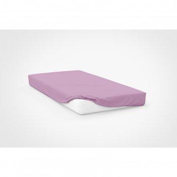 Простыня, размер 120x200x20 см, цвет розовый