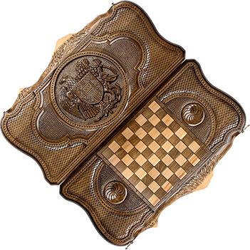 Нарды резные герб армении с араратом 60, ohanyan