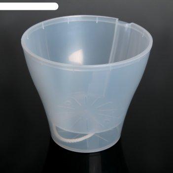 Кашпо афина 1л со вставкой, прозрачное