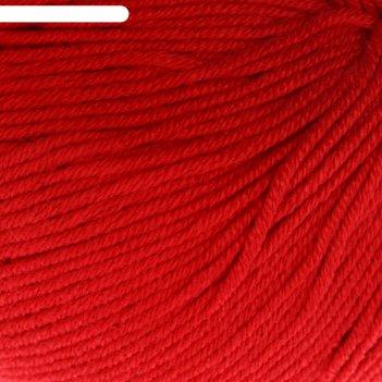 Пряжа baby cotton 60% хлопок, 40% полиакрил 165м/50гр (3439 красный)