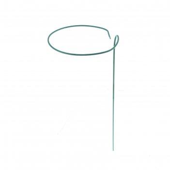 Кустодержатель для цветов, d = 15 см, h = 30 см, металл, зелёный