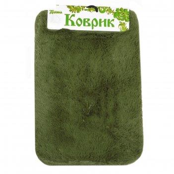 Коврик для ванной пушистик 40х60 см, зелёный