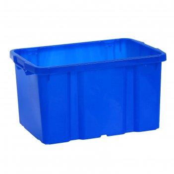 Ящик для хранения 60 л титан, цвет синий