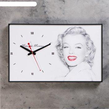 Часы настенные, серия: люди, мэрилин монро, 37х60 см
