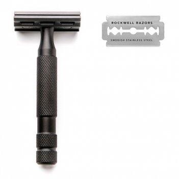 Т-образная бритва rockwell 6s, нержавеющая сталь, черная
