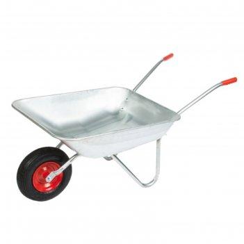 Тачка садовая одноколёсная: груз/п 80 кг, объём 85 л, пневмоколесо