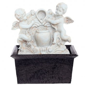 Фонтан ангелы со светодиодной подсветкой, l15,8 w11,8 h16,...