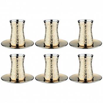Чайный набор 6 чашек+6 блюдецзолотой либерти 160 мл