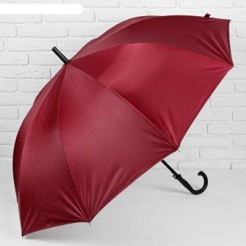 Зонт полуавтоматический, r = 61 см, 10 спиц, цвет бордовый