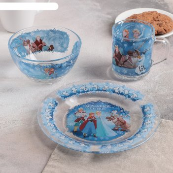 Набор посуды детский 3 предмета холодное сердце