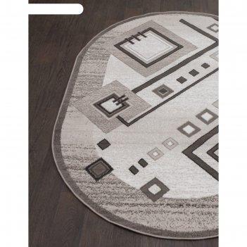 Овальный ковёр silver d188, 250x350 см, цвет gray