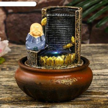 Фонтан настольный полистоун от сети свет маленький хотей у фонтана-дождь 2