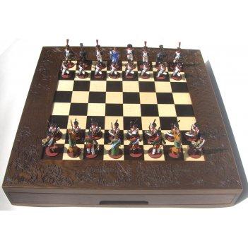 Шахматы исторические эксклюзивные с фигурами из олова покрашенными в полу