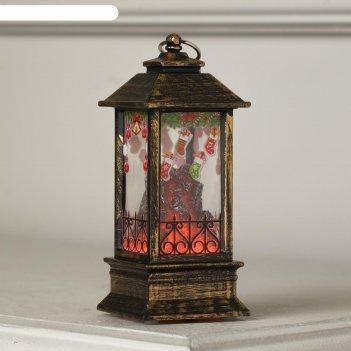 Фигура светодиодная фонарь камин рождеств. носочки, 13х5.5х5.5 см,бат. 3хl