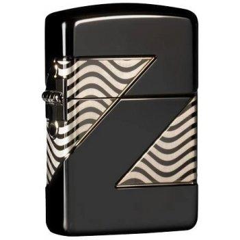 Зажигалка zippo armor™ с покрытием high polish black ice®, латунь/сталь, ч