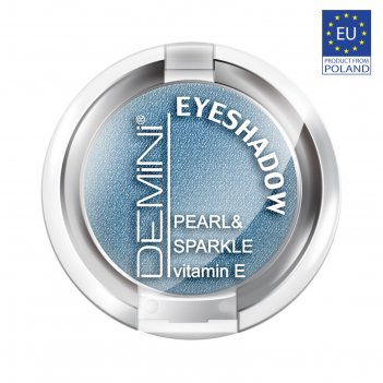 Тени для век demini pearl & sparkle eye shadow, тон 642 лазурный металлик