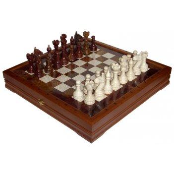 Шахматы каменные изысканные (высота короля 3,50) 41х41см