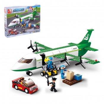 Конструктор авиация транспортный самолет, 383 детали