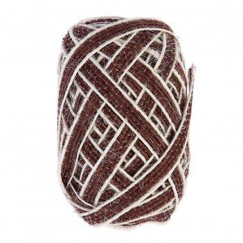 Тесьма декоративная текстиль плоский с полосками намотка 10 м ширина 0,6 с