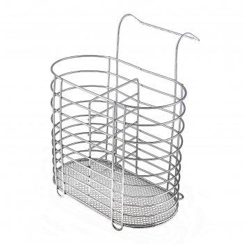 Сушилка для столовых приборов подвесная, овальная, на ножках