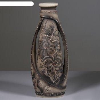 Ваза напольная форма венеция жемчуг цветы
