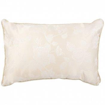 Подушка 40х60 барокко,кремовый,100% полиэстр ,