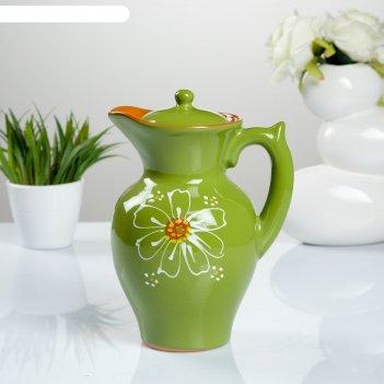 Кувшин для напитков 2,1 л дачный, цвет зеленый