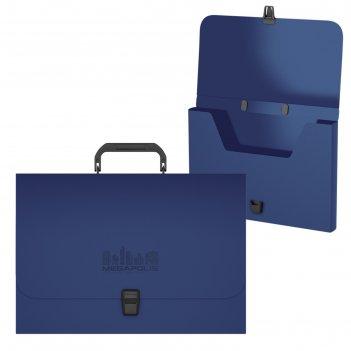 Портфель пластиковый erichkrause megapolis, fc, синий 50456