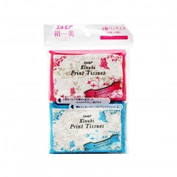 Бумажные двухслойные платочки с шелком kami shodji ellemoi kinubi print ti