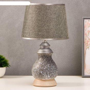 Лампа настольная 16175/1 е14 40вт серый 22х22х38 см