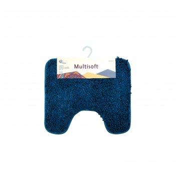 Коврик для туалета multisoft, цвет голубой