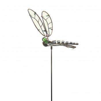 Декор садовый стрекоза, светящийся в темноте, штекер 52 см, микс цвета