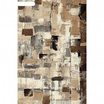 Ковёр фризе пп sunrise 2 d457, 1,5*2,3 м, прямоугольный, gray-beige
